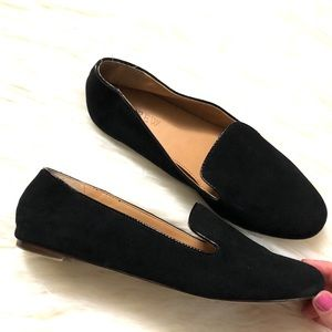 J. Crew Shoes - J. Crew black suede slip on loafers